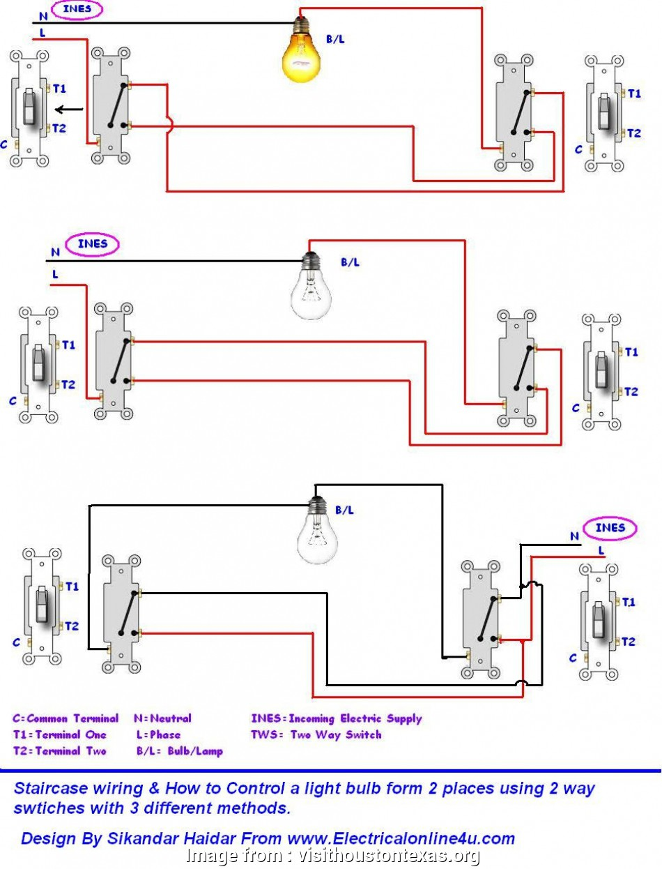 How To Wire Multiple Switches To  Light Practical One