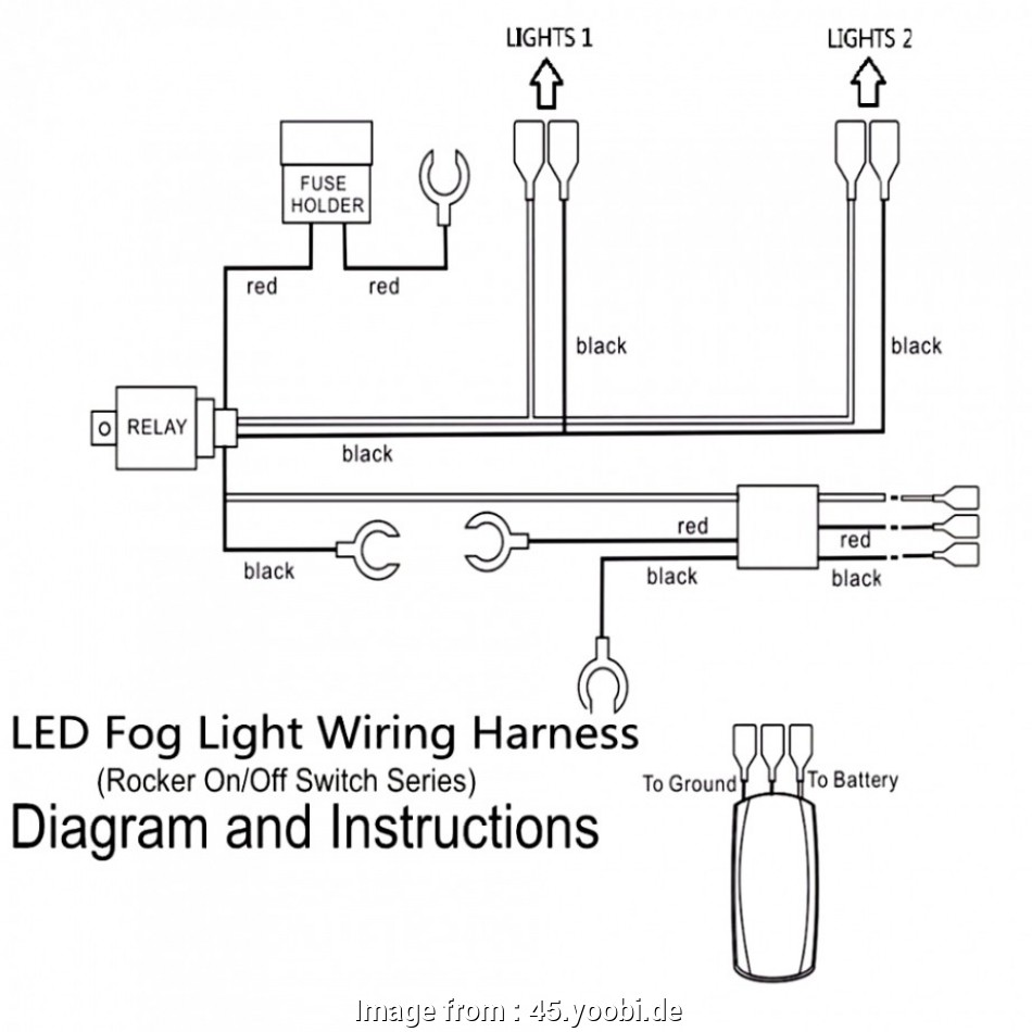 How To Wire Offroad Lights With A Relay  Switch Professional Led Offroad Light Wiring Diagram Kc