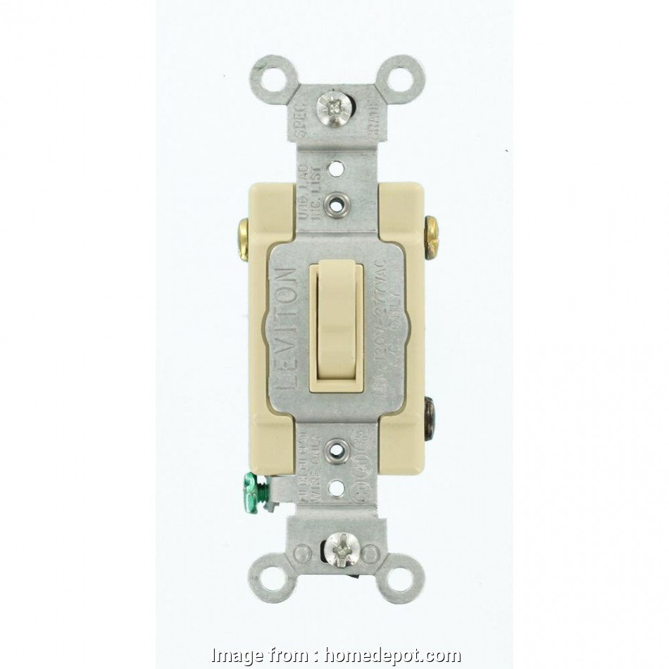 How To Wire  Way Double Toggle Switch Top Leviton 15  3