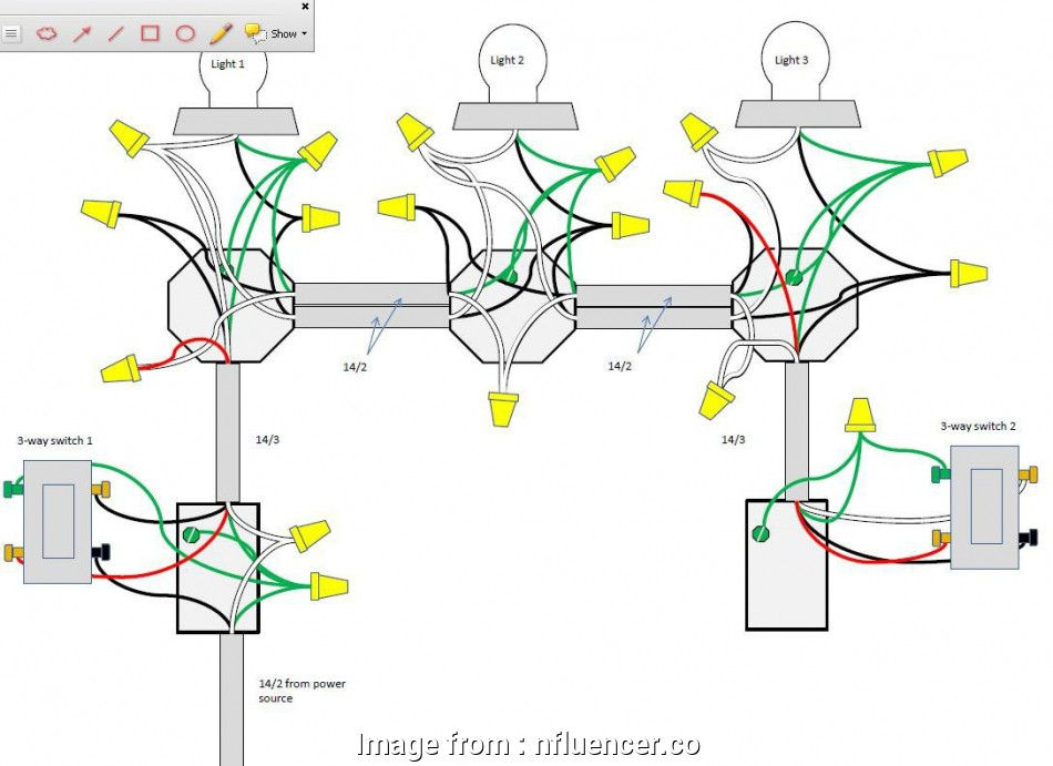how to wire a 3 way switch with 14-3 enamour, to wire multiple lights on, circuit diagram three, rh 07, architects, 3-Way Switch Wiring Methods 3-Way Switch Wiring Schematic 19 Perfect How To Wire, Way Switch With 14-3 Photos