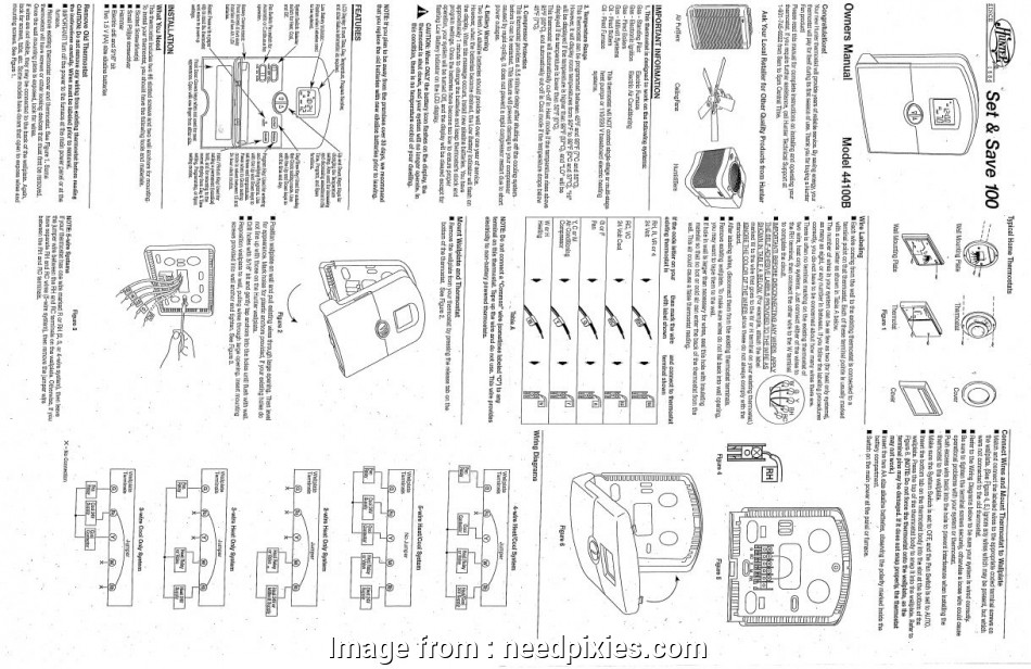 Hunter Thermostat 44860 Wiring Diagram New Hunter  Thermostat 44100b  Onlinecompliance Info