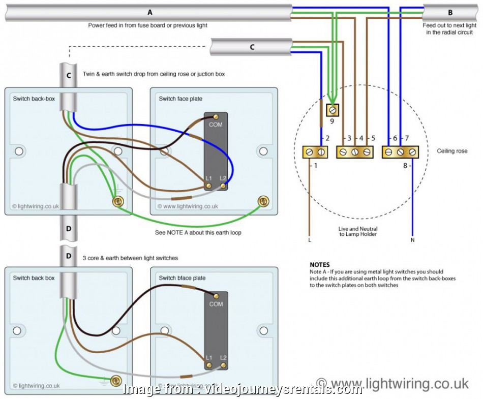 Light Switch Wiring Diagram 2 Gang Popular Electrical   Common Recolored  2 Gang Light Switch