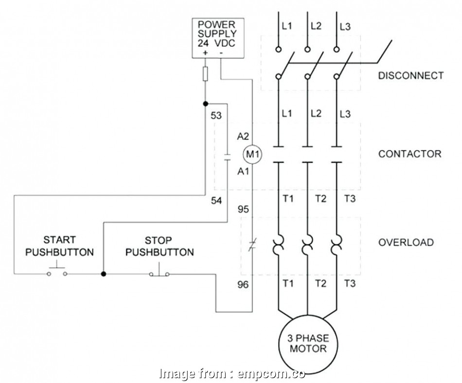 Magnetic Starter Wiring Diagram Single Phase Most Wiring