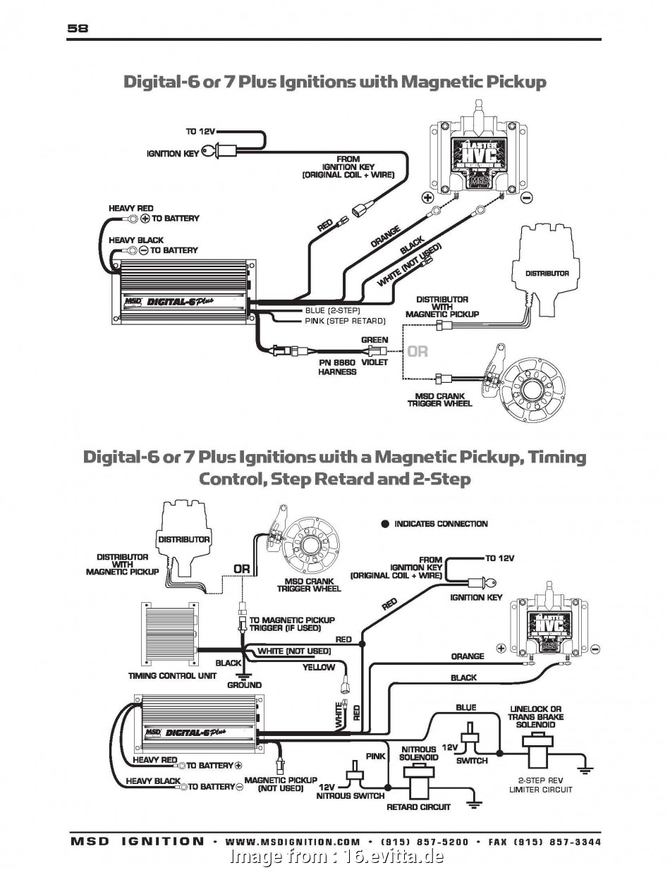 Msd Ignition 6425 Digital  Wiring Diagram Perfect Msd
