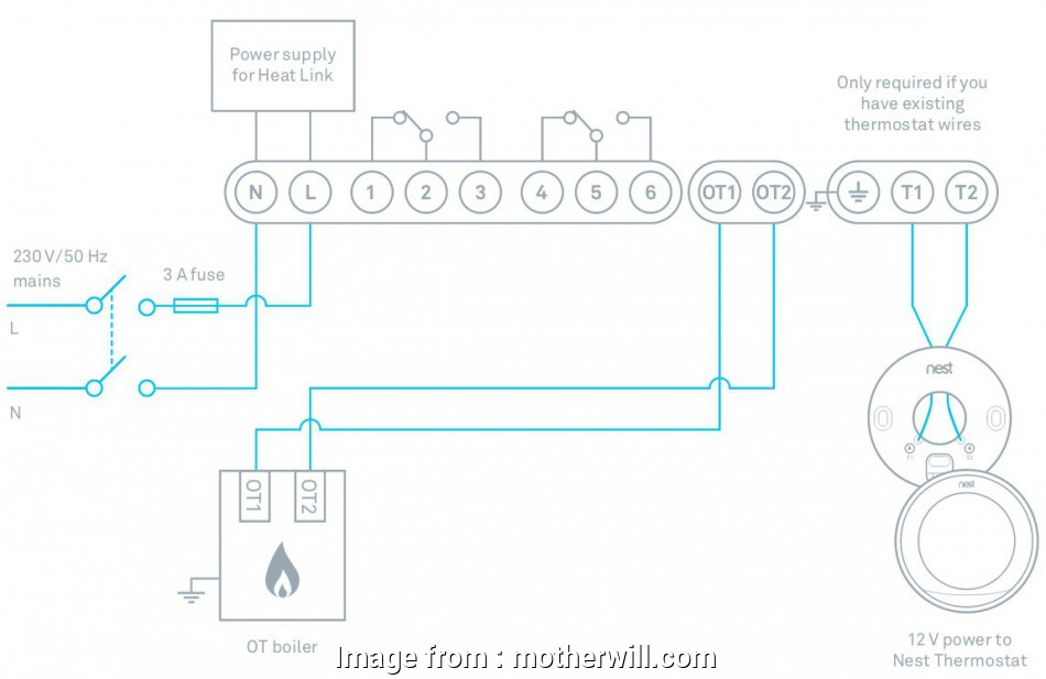 Nest Wiring Diagram  Combi Boiler Most 3rd  Nest