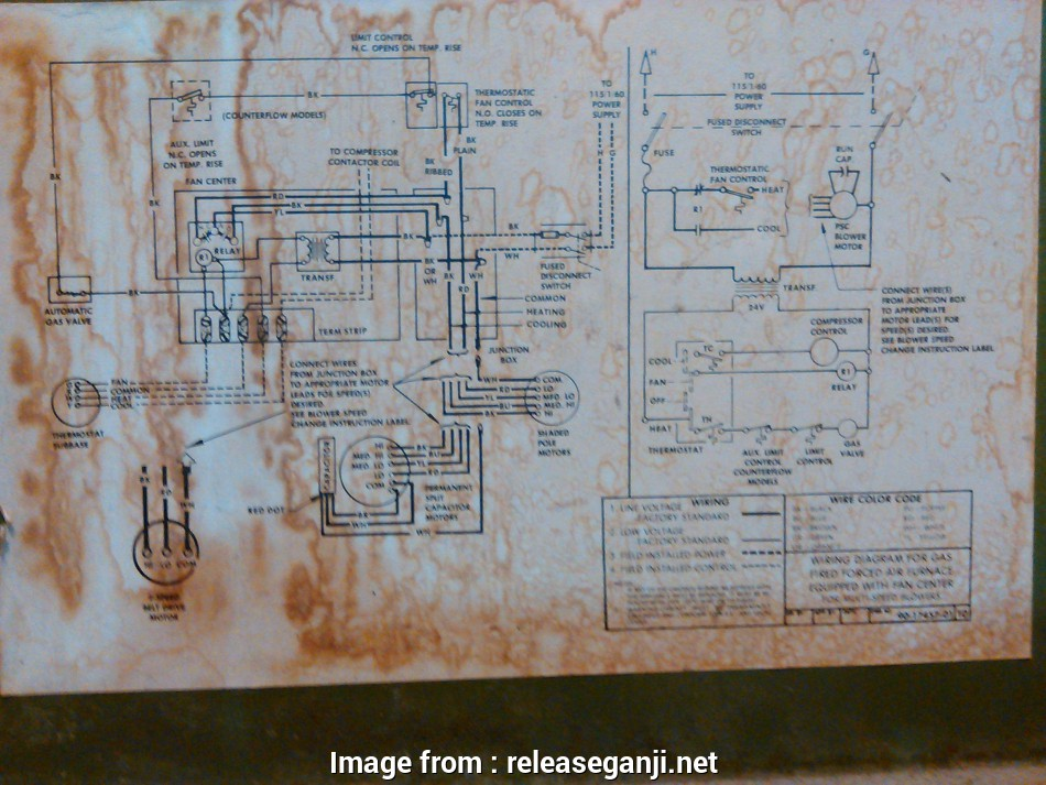 Old Furnace Thermostat Wiring Diagram Most Gas Furnace