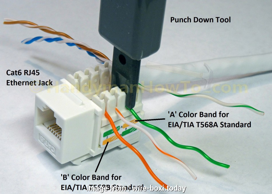 Phone To Rj45 Wiring Diagram New Rj11 Punch Down Diagram Wiring Diagrams Schema Wiring  3 Phone