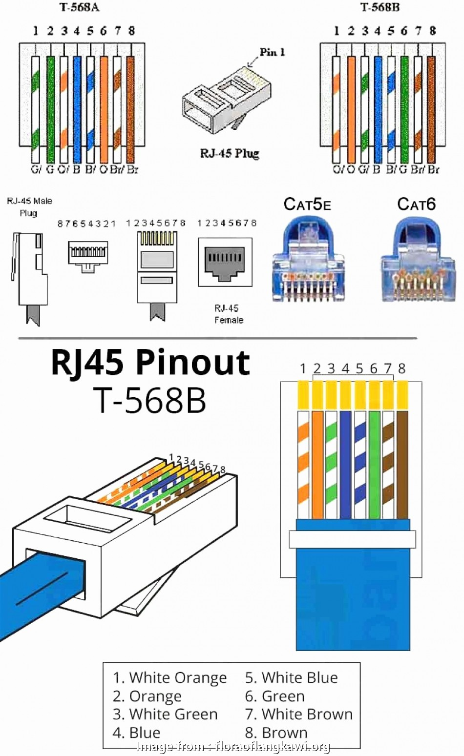 rj45 wiring diagram t568a Cat6 Network Cable Wiring Diagram Elegant T568a T568b Rj45 Cat5e Cat6 Ethernet Cable Wiring Diagram Home Of Cat6 Network Cable Wiring Diagram In Cat6 Wire 12 Simple Rj45 Wiring Diagram T568A Images