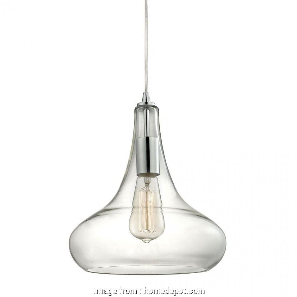 single wire pendant light Home Decorators Collection 1-Light Polished Chrome Pendant with Clear Glass Shade, Vintage Bulb 13 Professional Single Wire Pendant Light Ideas