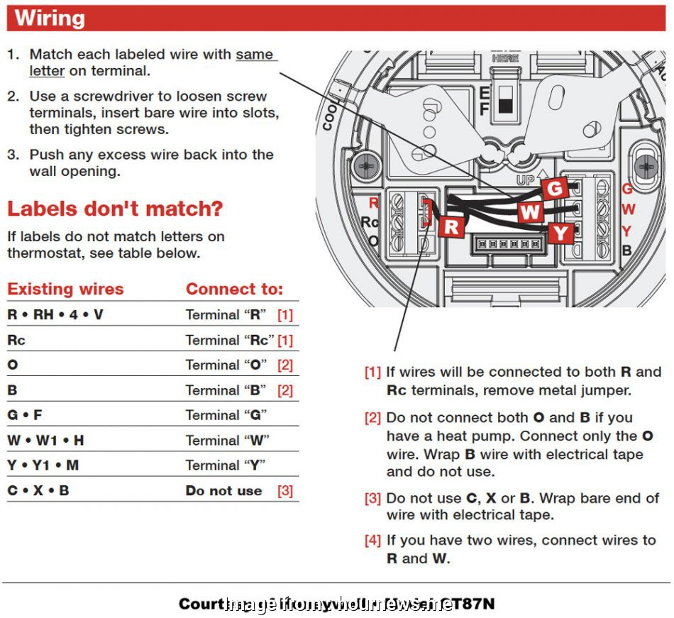 Standard Thermostat Wiring Diagram Practical Honeywell Thermostat Wiring Diagram Th 52200 Inside