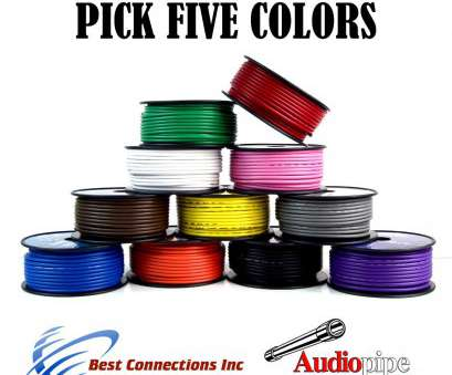 12 gauge electrical wire by the foot 5 Spools 100' Feet 12 GA Gauge Primary Remote Wire Auto Power Cable Stranded 12 Gauge Electrical Wire By, Foot Simple 5 Spools 100' Feet 12 GA Gauge Primary Remote Wire Auto Power Cable Stranded Ideas