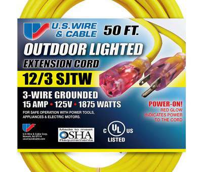 12 gauge electrical wire by the foot US Wire 74050 12/3 50-Foot SJTW Yellow Heavy Duty Lighted Plug Extension Cord, Amazon.com 12 Gauge Electrical Wire By, Foot Perfect US Wire 74050 12/3 50-Foot SJTW Yellow Heavy Duty Lighted Plug Extension Cord, Amazon.Com Images