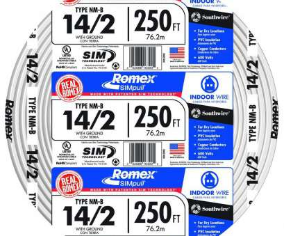 12 Gauge House Wire New 12/2 Solid Romex SIMpull CU NM-B, Wire-28828222 -, Home Depot Collections