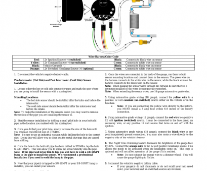 12 volt 6 gauge wire GlowShift 7 Color Series Dual, Intake Temperature Gauge User Manual, 3 pages, Also for: Dual Intake Temperature Gauge 12 Volt 6 Gauge Wire Fantastic GlowShift 7 Color Series Dual, Intake Temperature Gauge User Manual, 3 Pages, Also For: Dual Intake Temperature Gauge Collections