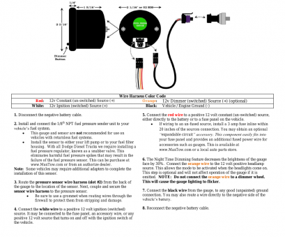12 volt 6 gauge wire GlowShift MaxTow Series Fuel Pressure Gauge User Manual, 3 pages, Also for:, PSI Fuel Pressure Gauge, 30, Fuel Pressure Gauge 12 Volt 6 Gauge Wire Cleaver GlowShift MaxTow Series Fuel Pressure Gauge User Manual, 3 Pages, Also For:, PSI Fuel Pressure Gauge, 30, Fuel Pressure Gauge Images