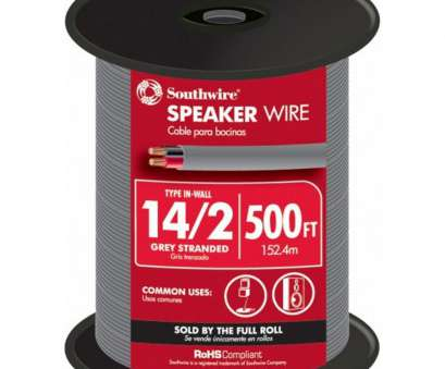 14 gauge speaker wire 50 ft Southwire 500-ft 14/2 In-Wall Speaker Wire (By-the 14 Gauge Speaker Wire 50 Ft Simple Southwire 500-Ft 14/2 In-Wall Speaker Wire (By-The Galleries