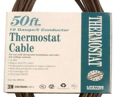 18 gauge 5 wire Coleman Cable 09634, Bulk Thermostat Cable, 18-Gauge 5-Conductor 50-Feet, Electrical Cables, Amazon.com 11 Top 18 Gauge 5 Wire Solutions