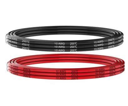 18 Gauge 6 Pair Wire Professional Electrical Wire 10, 10 Gauge Silicone Wire Hook Up Wire Cables 20 Feet, Ft Black, 10 Ft Red] Soft, Flexible 1050 Strands 0.08 Mm Of Tinned Photos