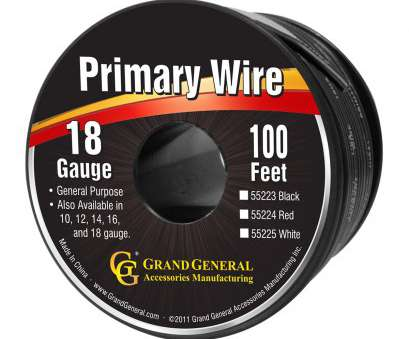 18 gauge primary wire Primary Wires in 18 Gauge, Grand General, Auto Parts Accessories 18 Gauge Primary Wire Creative Primary Wires In 18 Gauge, Grand General, Auto Parts Accessories Solutions