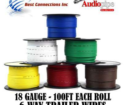 18 gauge wire Trailer Wire Light Cable, Harness 6, Cord 18 Gauge, 100ft roll, Rolls 13 Fantastic 18 Gauge Wire Photos