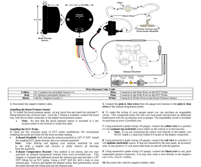 1/8 gauge wire GlowShift Boost &, Combo Gauge User Manual, 3 pages 9 Popular 1/8 Gauge Wire Solutions
