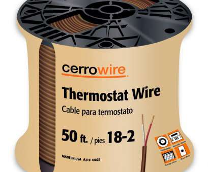 19/22 wire gauge CERRO 210-1005BR Feet 18/5 Thermostat Brown Wire, 50-Foot, 18-Gauge, 5 Ground, Amazon.com 14 Nice 19/22 Wire Gauge Galleries