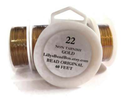 22 gauge beading wire XL Spool, Gold Plated Wire, 22 Gauge, 60 Feet, Round Wire, Making Jewelry,, Tarnish Wire, Wire Wrapping Supplies 22 Gauge Beading Wire Most XL Spool, Gold Plated Wire, 22 Gauge, 60 Feet, Round Wire, Making Jewelry,, Tarnish Wire, Wire Wrapping Supplies Collections