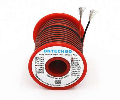 22 gauge silicone wire BNTECHGO 22 Gauge Silicone Wire 50 feet 2 Colors, ft Black, 25 ft Red] Soft, Flexible High Temperature Resistant Highly Efficient 22, Silicone 22 Gauge Silicone Wire Simple BNTECHGO 22 Gauge Silicone Wire 50 Feet 2 Colors, Ft Black, 25 Ft Red] Soft, Flexible High Temperature Resistant Highly Efficient 22, Silicone Solutions
