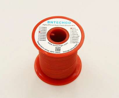 22 gauge silicone wire Get Quotations · BNTECHGO 18 Gauge Silicone Wire 50 Feet Spool, Soft, Flexible High Temperature Resistant Highly 22 Gauge Silicone Wire Perfect Get Quotations · BNTECHGO 18 Gauge Silicone Wire 50 Feet Spool, Soft, Flexible High Temperature Resistant Highly Galleries