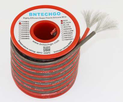 22 gauge silicone wire Get Quotations · BNTECHGO Translucent 14 Gauge Silicone Wire 40ft [20ft:Black, Red] High Temperature 22 Gauge Silicone Wire Brilliant Get Quotations · BNTECHGO Translucent 14 Gauge Silicone Wire 40Ft [20Ft:Black, Red] High Temperature Images