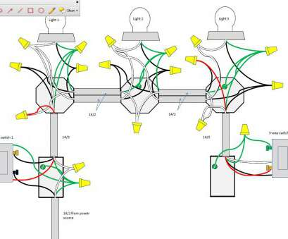 20 Most 3, Switch Wiring Diagram Multiple Lights Power At Light Images