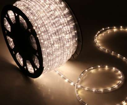 5 Wire, Rope Light Creative 150' Warm White 2 Wire 110V, Rope Light Home Outdoor Christmas Lighting Photos