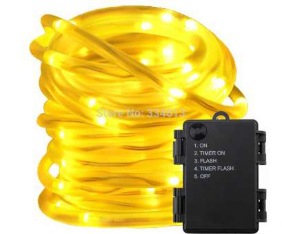 5 Wire, Rope Light Cleaver Battery Powered String Lights, 5 Modes Timer 5M, LED Rope Lights Waterproof, Tube Ideas