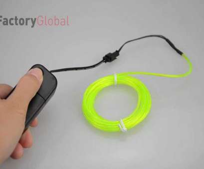 5 Wire, Rope Light Popular H8931 3M Flexible Neon Light EL Wire Rope Tube With Controller, YouTube Images