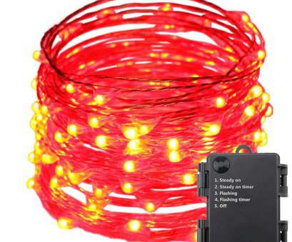 5 Wire, Rope Light Nice String Lights, Copper Wire Fairy Christmas Light With 5 Modes, 40Ft/12M 240LEDs AA Battery Powered, Seasonal Decor Rope Lights Collections