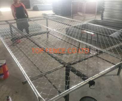 6 Gage Wire Mesh Simple 6'X10' Temporary Chain Link Fence ,Construction Panels Tubing 1½