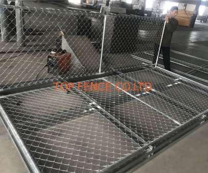 6 Gage Wire Mesh Perfect Temporary Chain Link Fence Panels 6'Height X, Width 35Mm Wall Thickness 1.5Mm Mesh Pictures