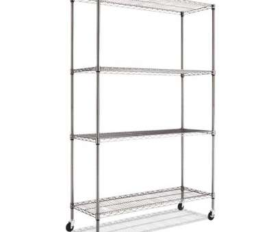 alera complete wire shelving unit with caster black anthracite Alera Complete Wire Shelving Unit with Casters, Four-Shelf,, x, x 72