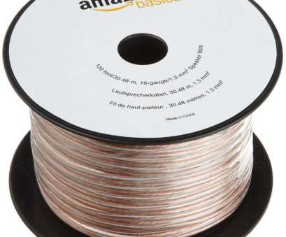 amazonbasics 16-gauge speaker wire - 50 feet AmazonBasics 16-Gauge Speaker Wire -, Feet, Tech Bag Amazonbasics 16-Gauge Speaker Wire, 50 Feet Creative AmazonBasics 16-Gauge Speaker Wire -, Feet, Tech Bag Collections
