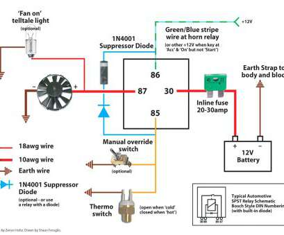 Automotive Electric, Relay Wiring Diagram Cleaver Automotive Electric Fans, Fan Relay Wiring Diagram 59C45D9753245 At 5 Prong Solutions