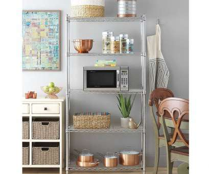chrome wire pantry shelving Chrome (Grey) Plated Metal 5-Shelf Pantry Shelving (5-Layer Chrome Wire Pantry Shelving Perfect Chrome (Grey) Plated Metal 5-Shelf Pantry Shelving (5-Layer Collections