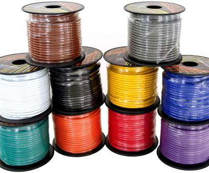 Copper Electrical Wire Turns Black Fantastic 14 Gauge Ga Primary Wire Bundle. Choice Of 4, 6 Or 10 Roll Pack,, Feet, Roll. Stranded Copper Clad Aluminum Cable. Great, Audio Speaker Amplifier Collections