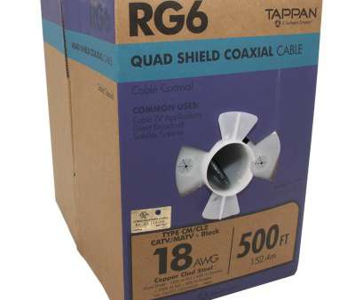 Copper Electrical Wire Turns Black Top Display Product Reviews, 500-Ft 18-AWG RG6-Quad Shield Black Coax Photos