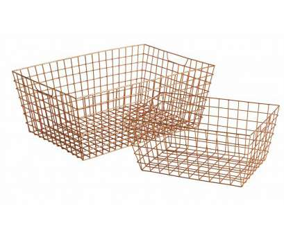 Copper Wire Mesh Baskets Perfect Bathroom Storage Ideas, Cabinets & Accessories, House & Garden Collections