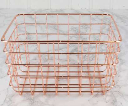 Copper Wire Mesh Baskets Brilliant Copper Wire Basket With Handles, Cokes., Coke Cans In Here, A Label On Sthrdy Handle If Someone Wants 'Coke' Pull Up That Basket Images