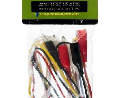 Diameter Of 6 Gauge Wire Cleaver Se, 36 16 Gauge Test Lead Sets With Alligator Clips Pack Of 4 Rh Amazon, 2 Gauge Wire, Gauge Electrical Wire Solutions