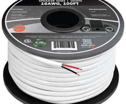 does speaker wire gauge really matter Amazon.com: Mediabridge 16AWG 2-Conductor Speaker Wire (100 Feet, White), 99.9% Oxygen Free Copper -, Listed &, Rated, In-Wall, (Part# 19 Simple Does Speaker Wire Gauge Really Matter Collections
