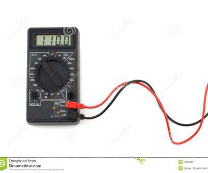 electric red wire white black Digital multimeter with, and black wires shows, volts on, display 17 Nice Electric, Wire White Black Ideas