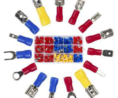 electrical wire connectors amazon Amazon.com: Wire Terminal Crimp connectors,280pcs Small Wire Crimp Electrical connectors Insulated Spade Set,Color, Yellow Blue, 16 Types 22-10, US 9 Practical Electrical Wire Connectors Amazon Photos