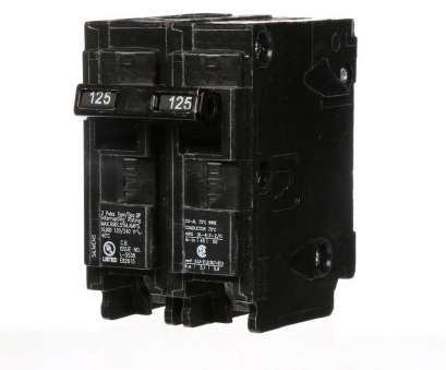 Electrical Wire Size, 125, Service Creative Siemens, Amp Double-Pole Type QP Circuit Breaker Collections